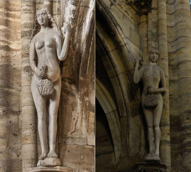 Eva und Adam im Halberstädter Dom